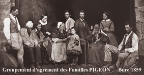 Famille Pigeon 1859
